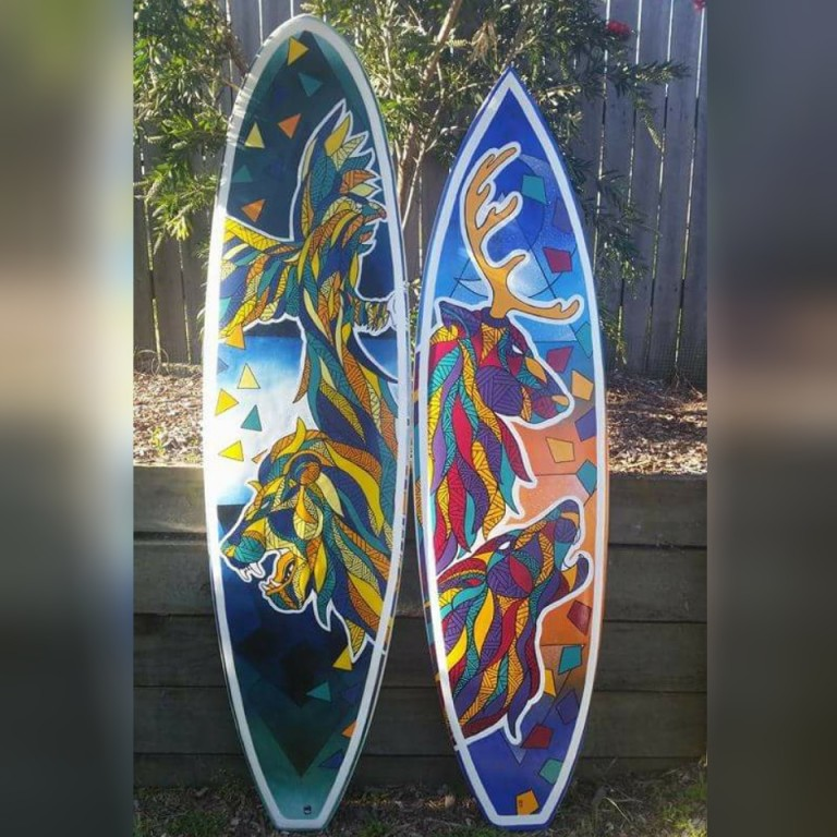 Commissioned Surfboard Pieces