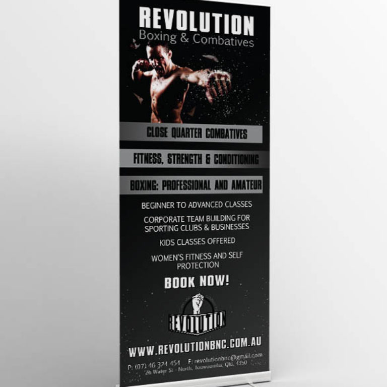 Revolution Boxing & Combatives - Pull Up Banner