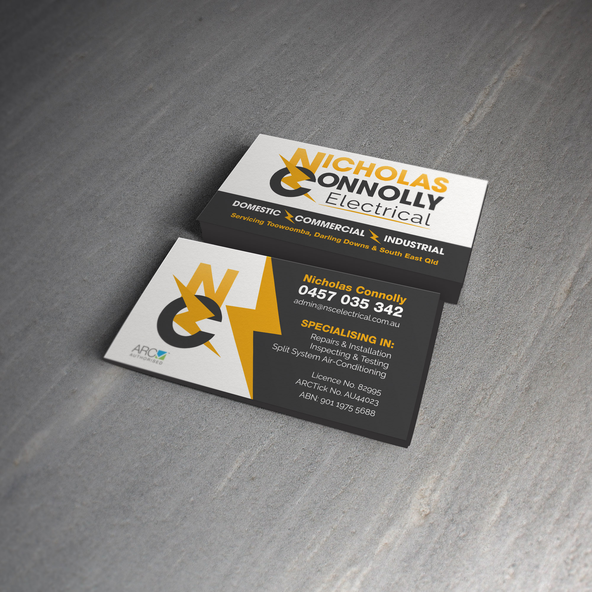 Nicholas Connolly Business Card Design