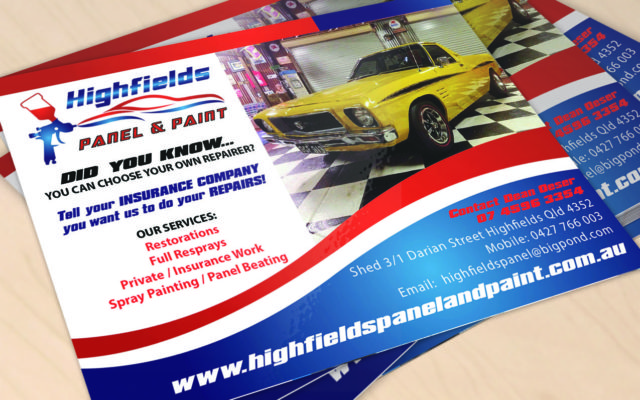 Highfields Panel & Paint Flyer Design