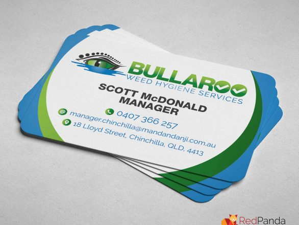 Business Cards - Bullaroo Weed Hygiene Services