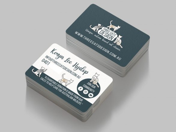 Business Cards - Three Cats Design