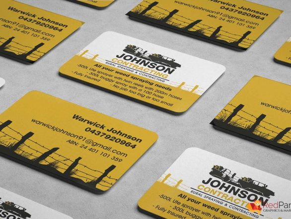 Business Cards - Johnson Contracting